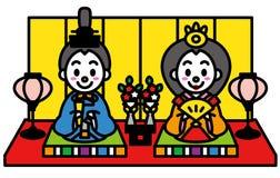 女儿节,日本的玩偶节日 免版税库存图片