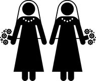 女同性恋的婚姻 皇族释放例证