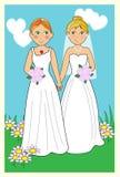 女同性恋的婚礼 免版税库存照片