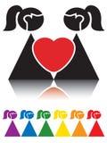 女同性恋的符号 库存照片