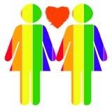 女同性恋的自豪感 免版税库存图片