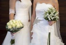 女同性恋者的婚礼 免版税库存照片