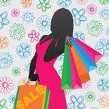女售货员 免版税图库摄影