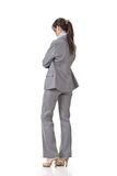 女商人冥想 免版税库存照片