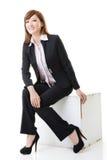 女商人坐姿 图库摄影