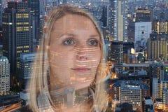 女商人女实业家画象信心希望城市doubl 免版税库存照片
