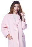女商人穿戴便衣样式为冬天 免版税图库摄影