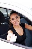 女商人驾驶 免版税图库摄影