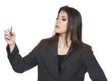 女商人画象 免版税库存图片