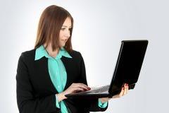 年轻女商人 免版税库存图片