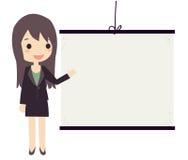 女商人介绍 向量例证