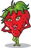 女士草莓 向量例证