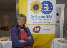 女士 欧洲议会的MARGRETE AUKEN_SF成员 免版税图库摄影