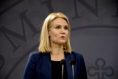 女士 赫勒THORNING-SCHMIDT_DANISH总理 免版税库存图片