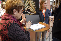 女士 GHITA诺比(GHITA Nï ¿ ½ RBY)丹麦电影明星 图库摄影