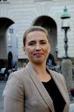 女士 Mette丹麦社会民主党党Frederiksen_leader  库存图片