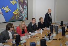 女士 SOFIE卡斯滕NIELSEN_RADIKAL VENSTRE 库存照片