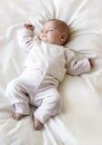 女婴休眠 免版税库存图片