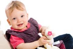 女婴使用 库存照片
