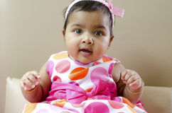 女婴印地安人 免版税库存图片