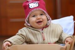 女婴微笑 库存照片