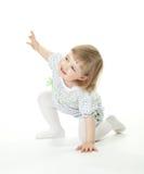 女婴愉快使用 免版税库存图片