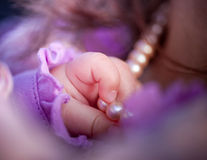女婴现有量 免版税库存图片