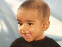 女婴笑 图库摄影