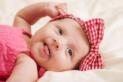 女婴纵向小孩 免版税库存图片