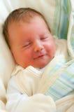 女婴纵向微笑 库存图片