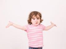 女婴纵向想知道 免版税库存照片