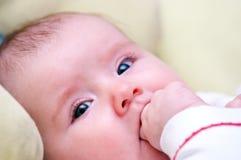 女婴纵向 图库摄影
