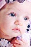 女婴纵向  免版税库存照片