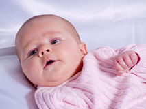 女婴纵向 库存照片