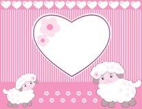 女婴羊羔 免版税库存图片