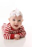 女婴节假日jammies 库存图片