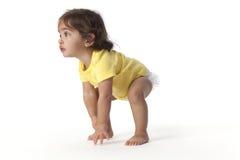 女婴非工作状态运行起始时间 免版税库存照片