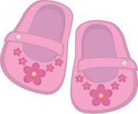 女婴鞋子 库存例证