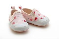 女婴鞋子 库存照片