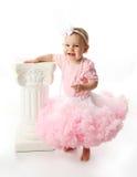 女婴pettiskirt芭蕾舞短裙佩带 图库摄影