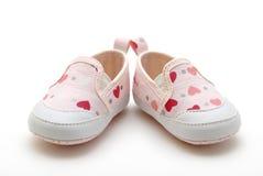 女婴s鞋子 图库摄影