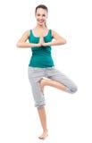 女子实践的瑜伽 库存图片