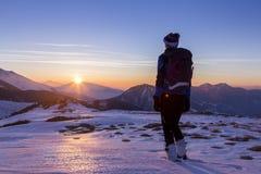 女子滑雪者 免版税库存图片