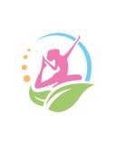 女子瑜伽健康2传染媒介秀丽摘要 免版税图库摄影