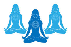 女子瑜伽 免版税图库摄影