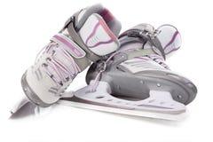 女子的曲棍球冰鞋 库存图片