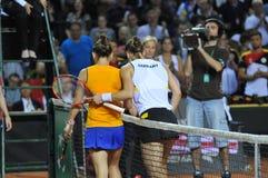 女子网球比赛 免版税图库摄影