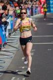 女子马拉松运动员 库存照片