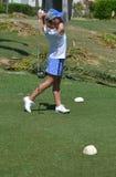 女子高尔夫球运动员 图库摄影