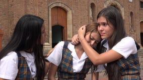 女学生哀情和同情 库存图片